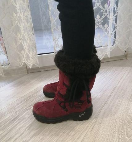 Ботинки зимние Ecco на девочку 32р. очень теплые и удобные