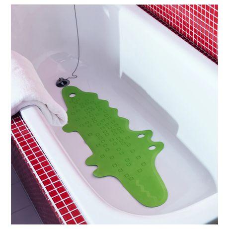 IKEA PATRULL ПАТРУЛЬ  Килимок у ванну, крокодил зелений, 33x90 см.