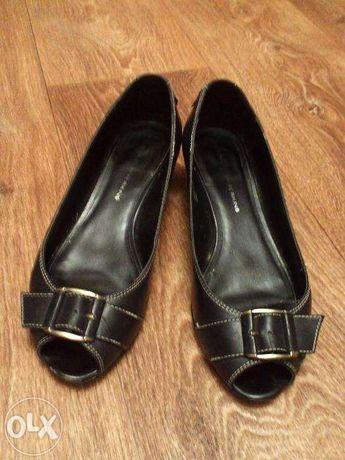 Черные туфельки, туфли из натуральной кожи, Дороти Перкинс