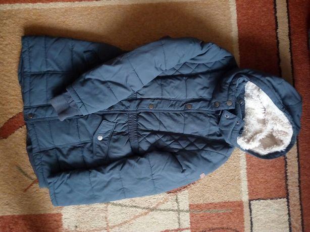 Kurtka zimowa H M dziewczynka ciepła 152 gratis tunika