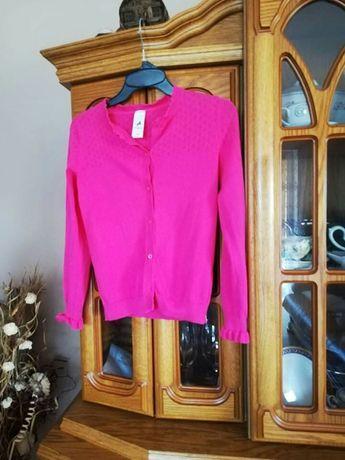 Sweterek dla dziewczynki  w rozmiarze 140
