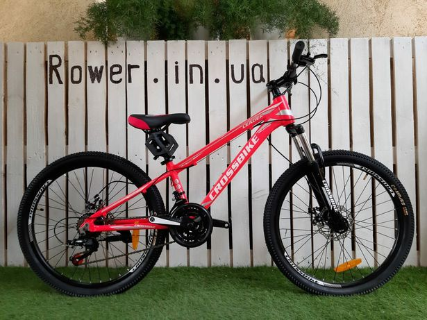 Новий алюмінієвий велосипед Crossbike Leader 24 Pink / Детский