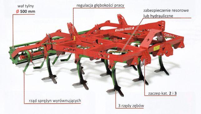 Agregat podorywkowy zab resorowe hydrauliczne Agro Masz APR30 3m APH