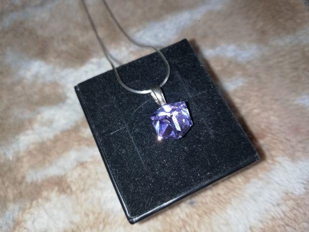 wisiorek srebro925 Swarovski violet + łańcuszek