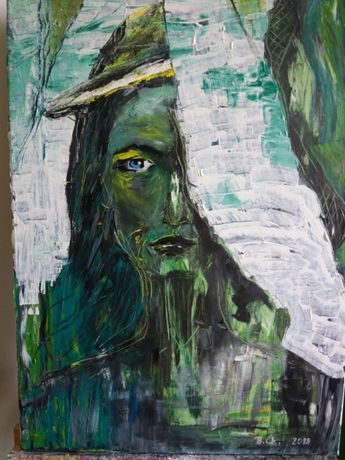 Obraz olejny na płótnie, rozm. 70x50 cm