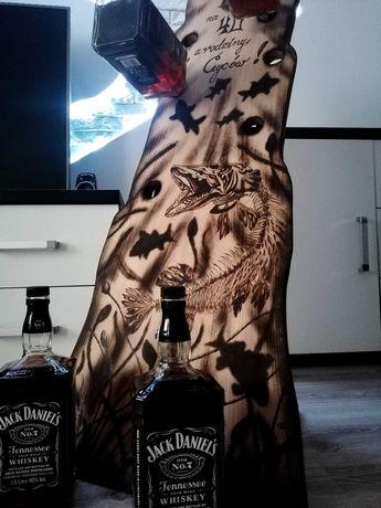 Stojak na alkohole wypalany prezent !!!
