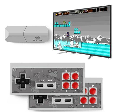 Consola mini Y2 PRO sem fios (Incluí 600 Jogos e 2x comandos wireless)