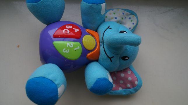 Grający słonik zabawka muzyczna 6m + polskie słowa
