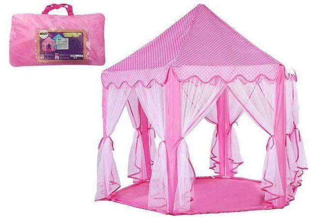 Namiot Księżniczki Różowy w Torbie Zasłony 6 Ścian
