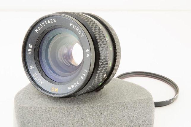 Lente 35mm f/1.8 M42 F/ 1.2 com speedbooster Mirrorless