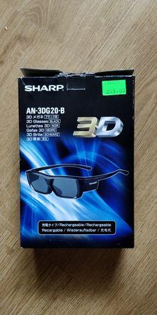 SHARP okulary 3D nowe