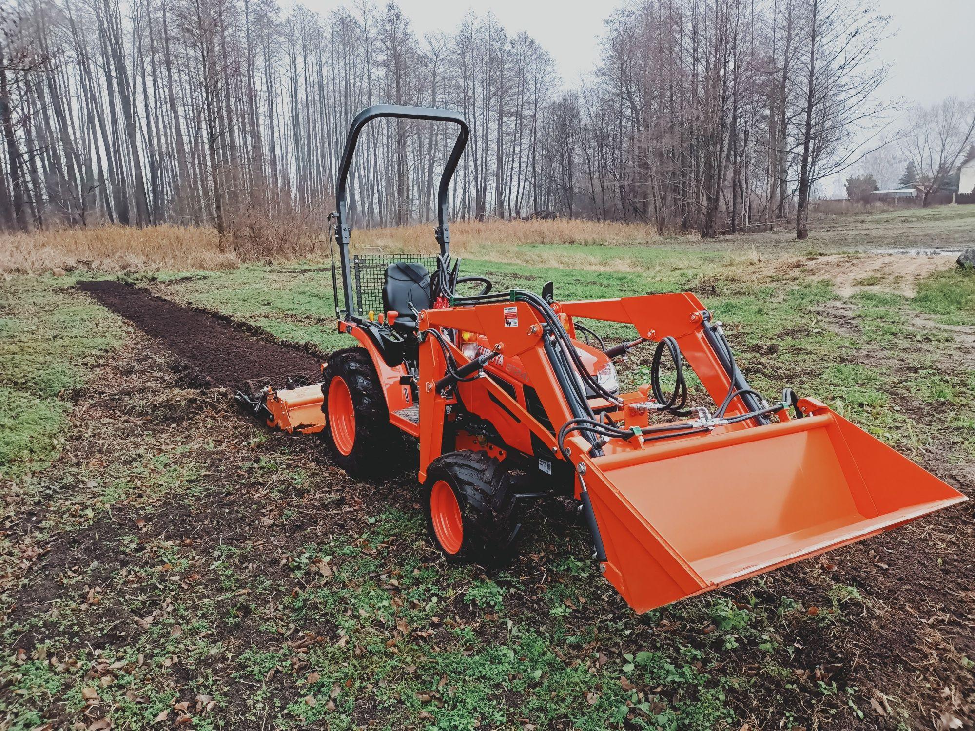 Usługi mini traktorem równanie porządkowanie koszenie działek