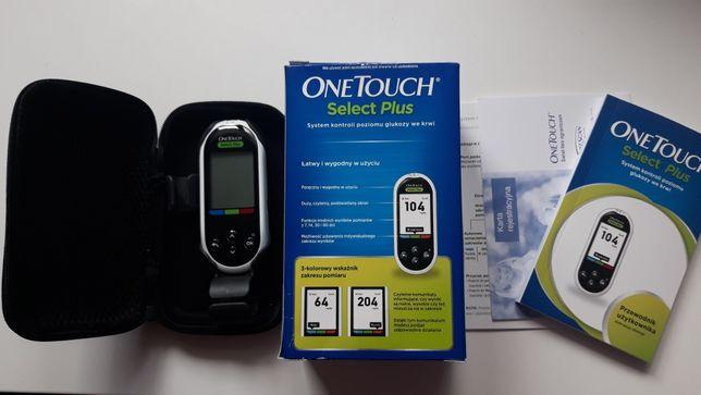 Glukometr One Touch Select plus cały zestaw