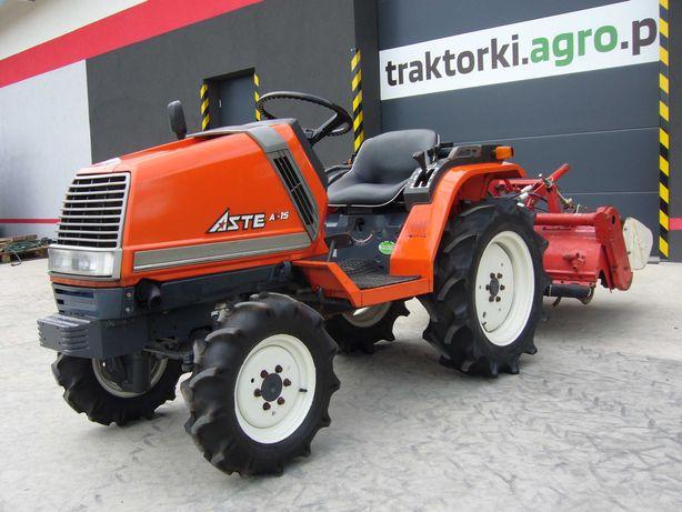Traktorek KUBOTA ASTE 15 , 15 KM , Glebogryzarka w komplecie.