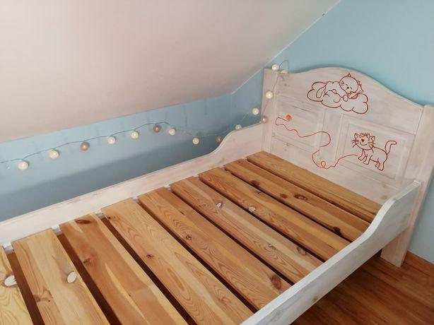 Łóżko drewniane sosnowe składane 90x200