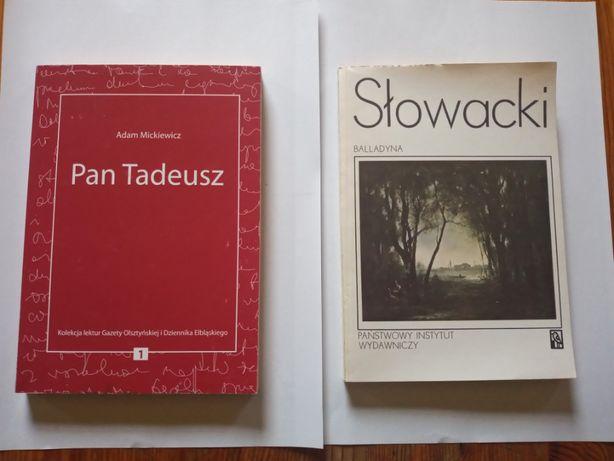 Pan Tadeusz, Balladyna.