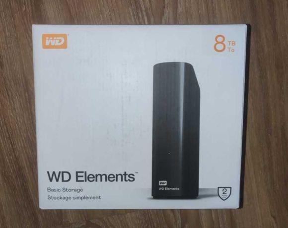 Внешний диск WD Elements 8TB (внутри HDD RED/White WD80EDAZ) usb