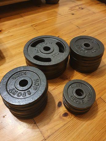 Obciążenie hop-sport 55kg 5kg 2.5kg 1.25kg żeliwne kierownice