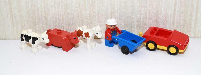 LEGO DUPLO  Лего дупло ориг фигурки животные лошадь тачка машина