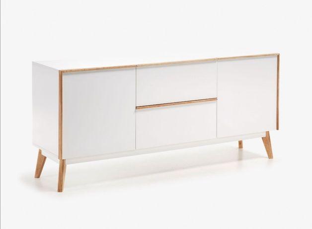 Consola Aparador Movel tv Lacado branco - by OVO Home Design
