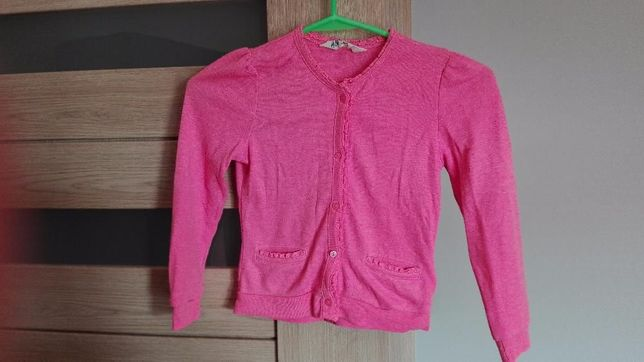Sweterek dziewczęcy H&M rożowy rozm.110-116