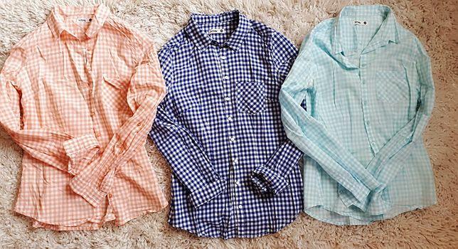Trzy koszule Synsay stan bdb roz34 xs