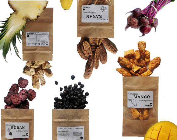 Owoce i warzywa suszone puffingowane Najwyższa jakość Panacea