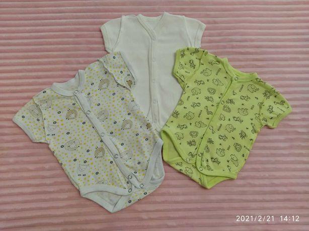 Бодики/человечики/штанишки/распашонки для двойни/близнецов 56/62 см