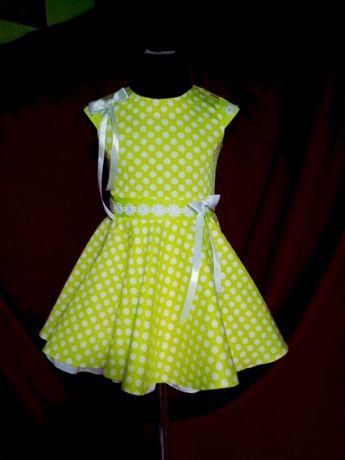 """Яркое платье для образа """" стиляги""""на 4-6 лет. продам"""