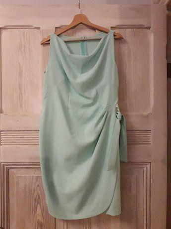 Sukienka ciążowa L/40, miętowa, elegancka
