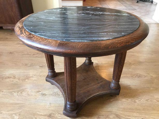 Antyczny stolik z marmurem