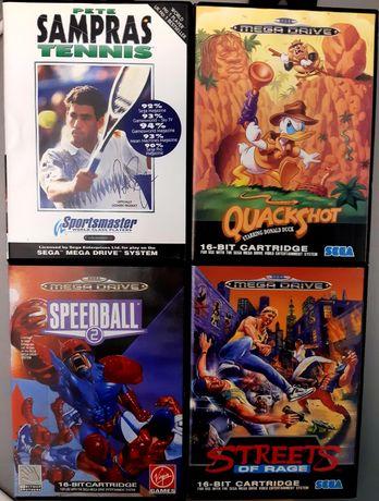Coleção de jogos Sega Mega Drive (Sampras, Quackshot, Streets of Rage)