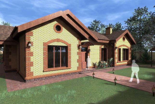 Индивидуальное проектирование частных домов. Рабочий проект, 3d модель
