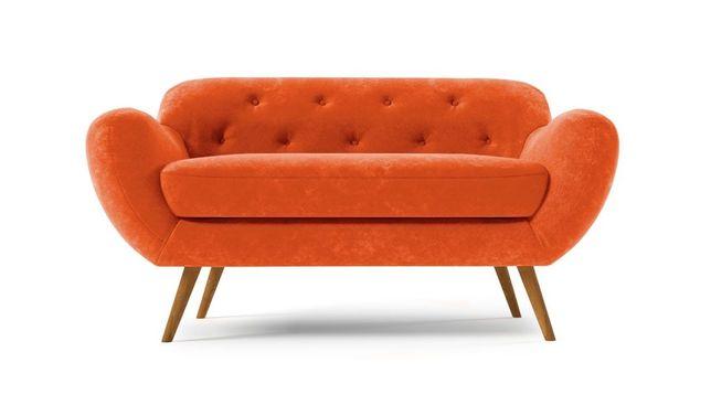 Sofa 2-osobowa nowoczesna skandynawski styl orange hit