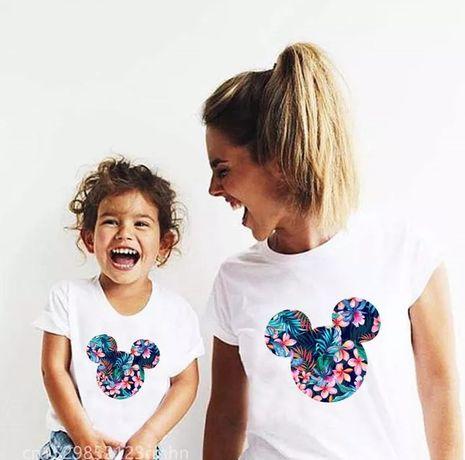 Koszulka bluzka t-shirt zestaw mama i córka myszka Miki Minnie mouse