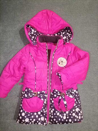 Тёплое зимнее пальто детское