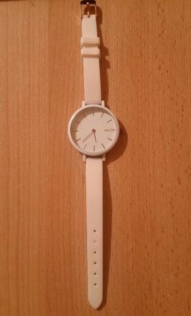 Zegarek damski biały biało złoty moon