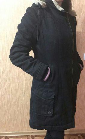 Парка куртка пальто зима+перчатки