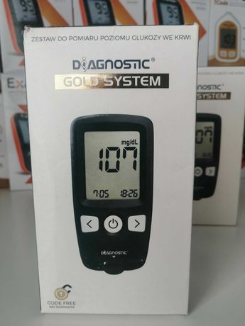 Glukometr Diagnostic GOLD SYSTEM - nowy