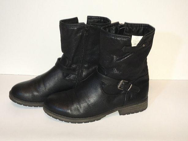 Buty zimowe kozaki dziewczęce roz 35