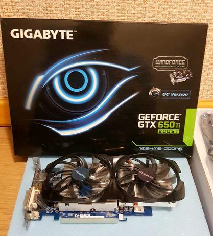 Игровая видеокарта Gigabyte GTX 650 Ti BOOST 192 Bit