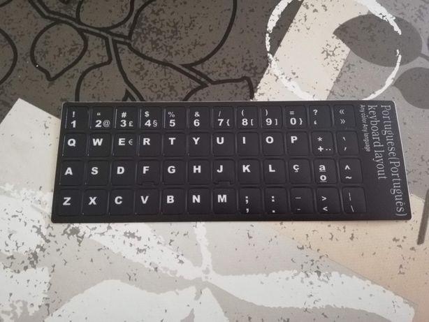 Autocolantes para teclado PT