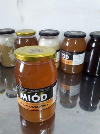 Miód wielokwiatowy rzepakowy akacjowy ziołomiody propolis 1,2kg 900ml