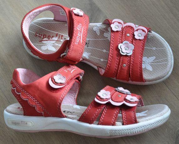 SUPERFIT R.32 skórzane sandały Emily, uniwersalne, sportowe sandałki