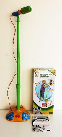 Microfone musical do Panda - Brinquedo interactivo (AINDA COM CAIXA)