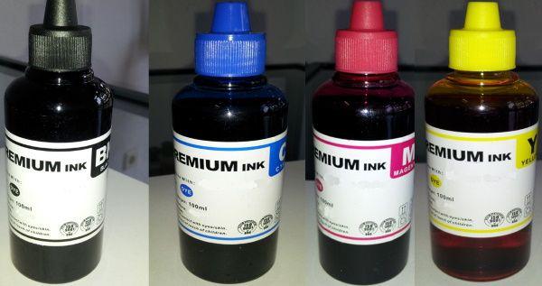 100ML Tinta Universal Epson, 4 cores