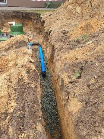 Drenaż odwodnienia hydroizolacja oczyszczalnie usługi minikoparką