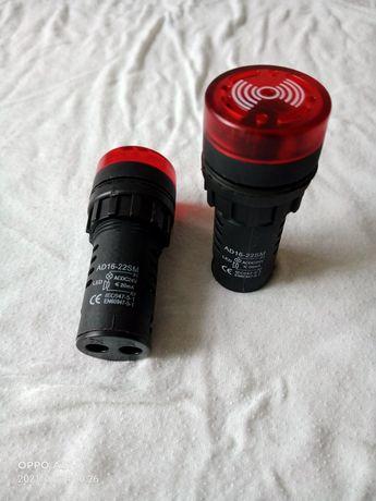 Зумер мигающий AD22-22 BM/r красный