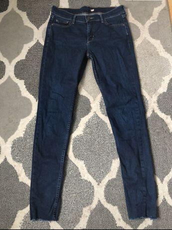Granatowe jeansy levi's