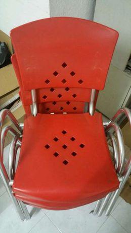 Cadeiras interior ou exterior esplanada cozinha laranja
